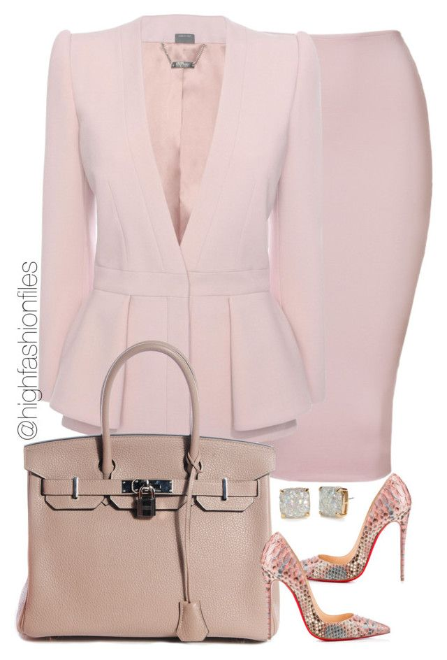 """""""Untitled #2189"""" by highfashionfiles on Polyvore featuring Alexander McQueen, Hermès, Christian Louboutin and Kate Spade"""