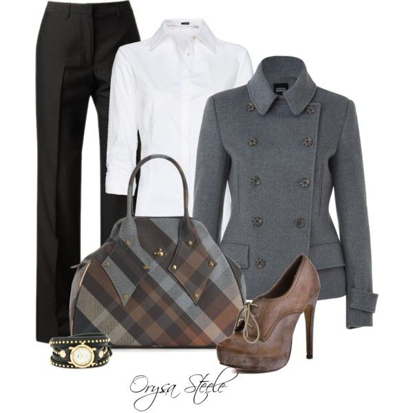 Business Lunch by orysa on Polyvore featuring MANGO, Steffen Schraut, Maison Margiela, Restricted, Vivienne Westwood, La Mer and vivienne westwood