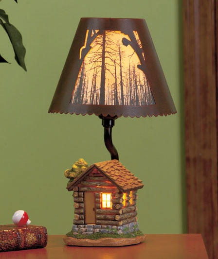 Cabin lamp all about cabins pinterest for Log cabin chandelier