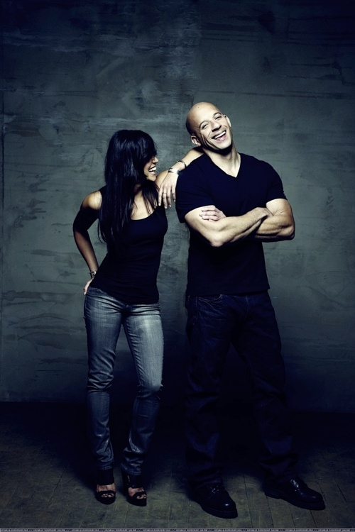 Fast and Furious Michelle and Vin ... screaming at how great this picture is  my favourite couple! Love love(: