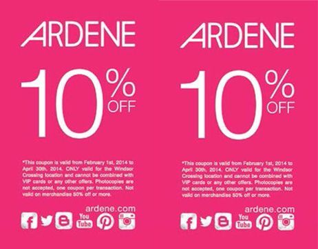 Get 10% off. Offer valid only at Windsor Crossing from February 1, 2014 to April 30, 2014.