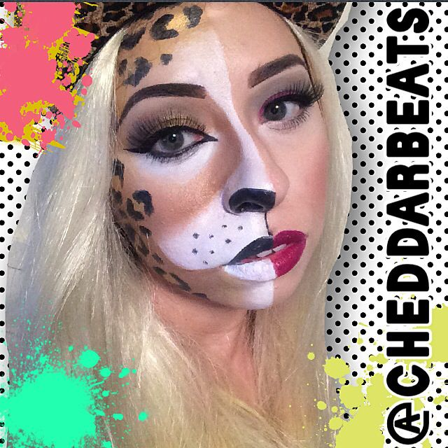 Two Faces Cheetah Face Paint