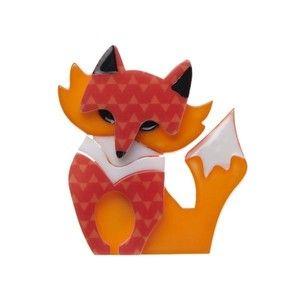 Fleur the Foxy Flame Brooch - Erstwilder