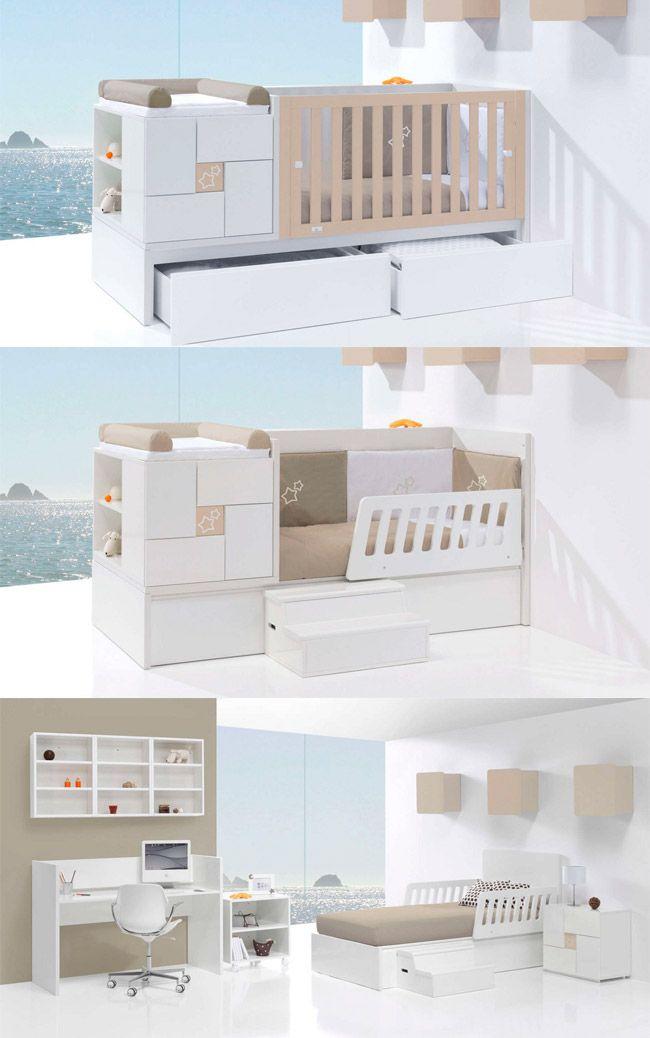 ¡Espectacular transformación de la cuna convertible de bebé CLIP de Alondra! Puedes elegir entre cajones o cama nido. Descubre todos sus detalles y colores a elegir