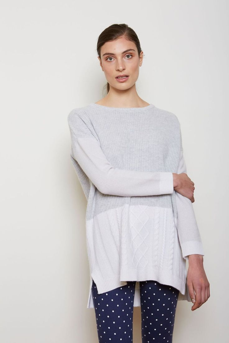 Alessandra - Spice Textured Sweater In Diamond And White