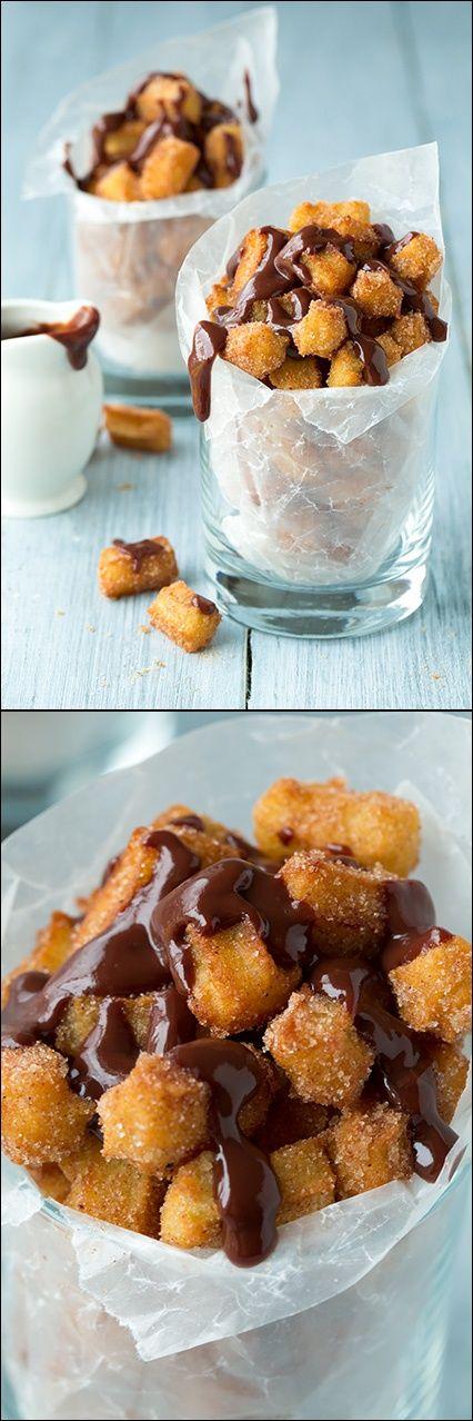 Churro Bites #dessert #churro