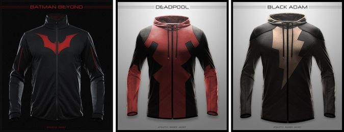 That DEADPOOL ONE, holy fuck. I want it! - http://coolpile.com/style-magazine/cool-superhero-hoodies-amazing-job-sale
