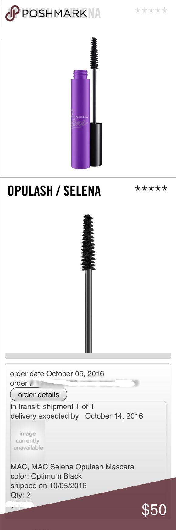 LIMITED EDITION MAC Selena Opulash Mascara LIMITED EDITION MAC Selena Opulash mascara in Optimum Black. Purchased from Macy's with expected delivery date of 10/14. Will ship out immediately upon receipt. Please keep negative comments to yourself, kthanks! Happy to work out a custom bundle upon request. ⛔️ NO TRADES ⛔️ MAC Cosmetics Makeup Mascara