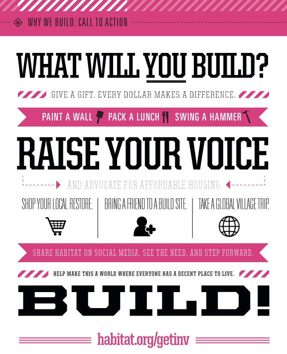 #Volunteer with @Habitat for Humanity! What will you build?  www.habitatbucks.org
