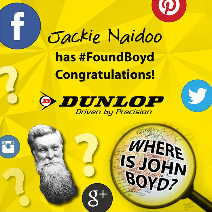 Well done to Jackie Naidoo, the first winner of the #FindingBoyd competition!