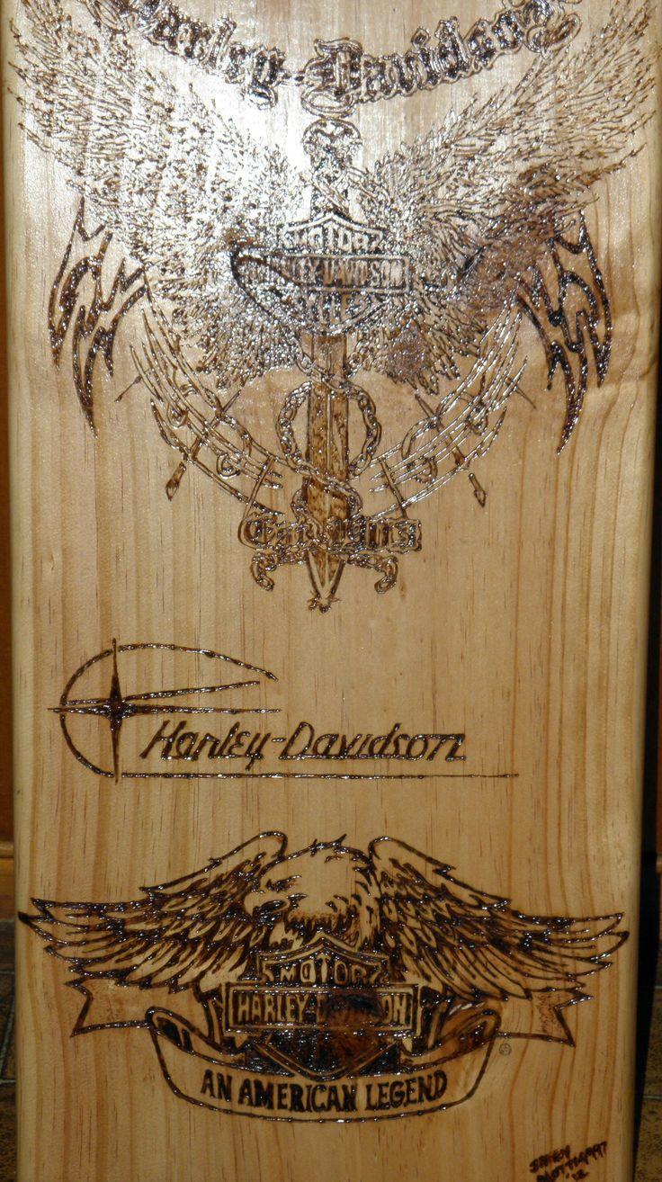 Harley Davidson - Various Logos  Jenni Amey - Jameys Pyrographic Designs