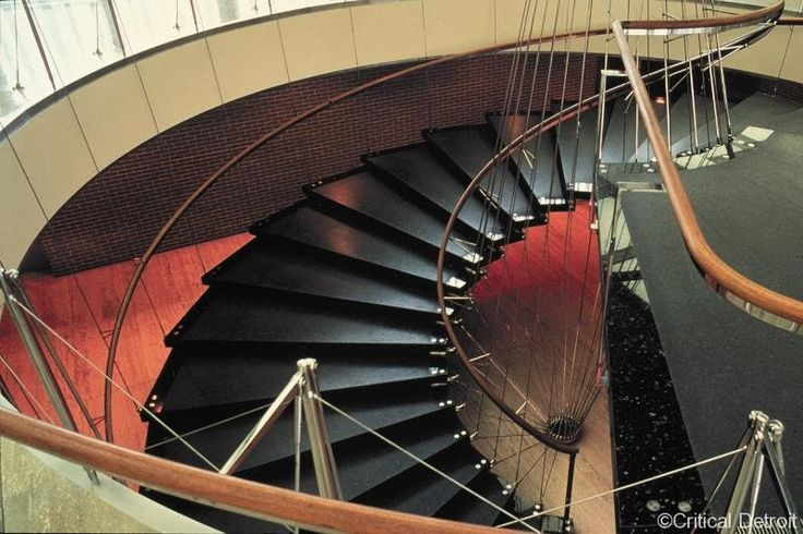 Spiral Staircase Systems: Iconic Staircases #01 - General Motors Technical Center - Eero Saarinen