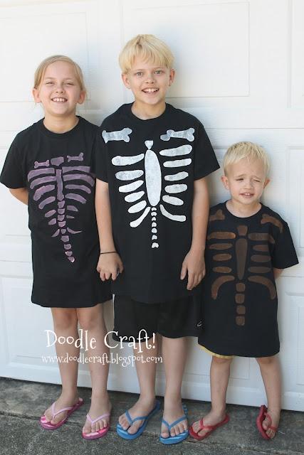 Doodle Craft...: Skeleton Shirts!