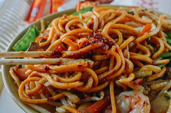 Shrimp Lo Mein, by thewoksoflife.com