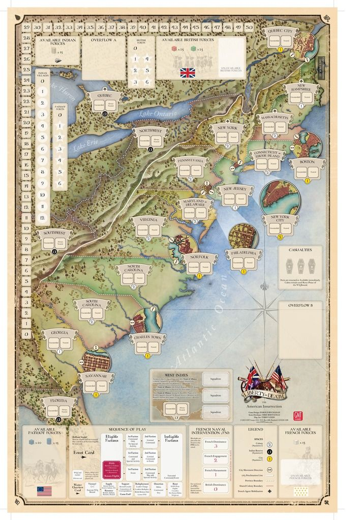 62 best historical boardgames maps images on pinterest maps liberty or death the american insurrection game board gumiabroncs Images