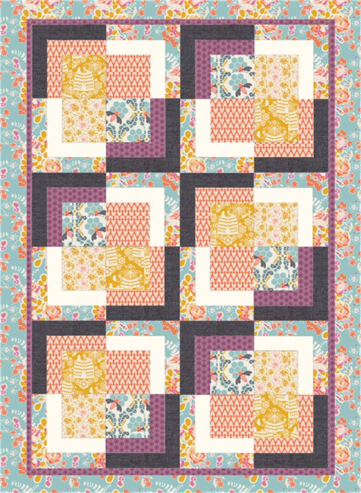 Here's the same pattern with a different combo of fabric on PatternJam.com~ so easy & fun to create!
