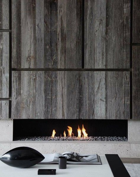Modern Fireplace, Old Material