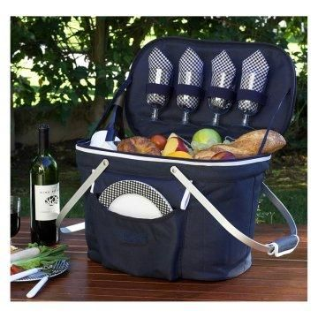 Collapsible Insulated Picnic Basket Set.