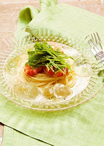 ひんやり麺で夏バテ知らず~食欲そそる&栄養たっぷり冷麺レシピ和洋中 ... 海老とルッコラのシュワシュワ 冷製スープパスタ