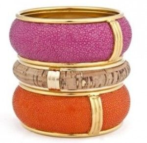 Stingray And Cork Bracelets, Robyn Brooks Accessories