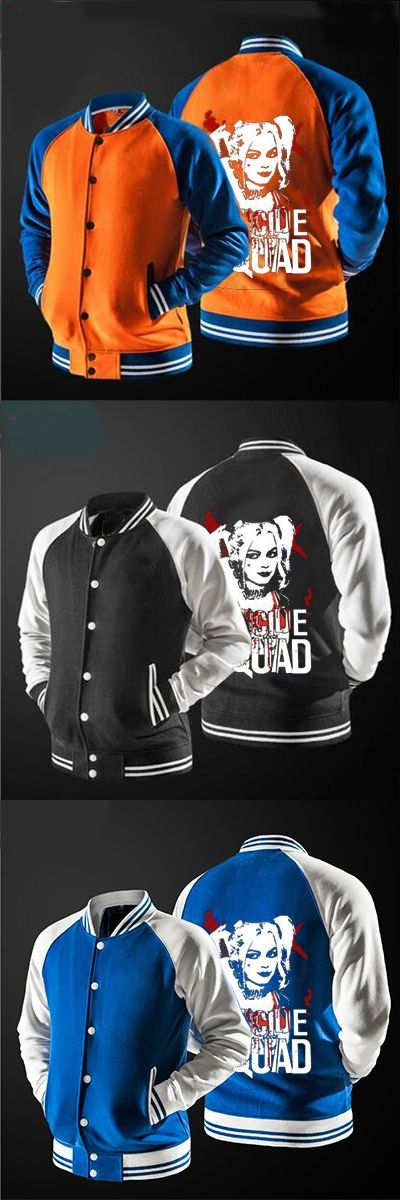 In 2017 the new fast ship New Suicide Squad Harley Quinn Joker  jacket Sweatshirts no hat,The highest quality, USA size.