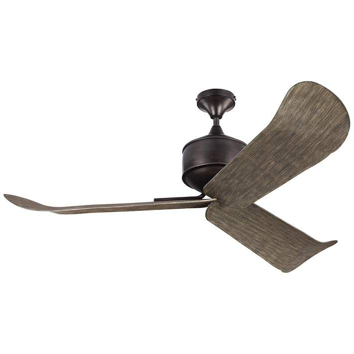 """56"""" Monte Carlo Dylan Aged Pewter Wet-Rated DC Ceiling Fan - #9F581 