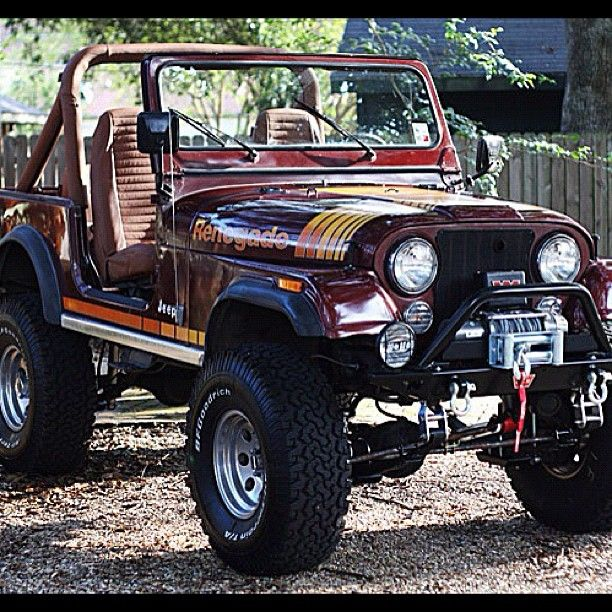 1981 Jeep CJ-7.  Now that jeep looks COOL.