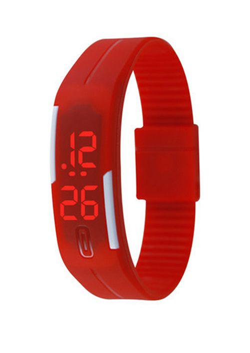 Watch Digital Wristband by Pocashop. Led Resin Watch with digital movement and also date and time display. The watch with Case size 20X50 mm and dimention for Band width 18 mm also feature adjustable strap http://www.zocko.com/z/JJxru