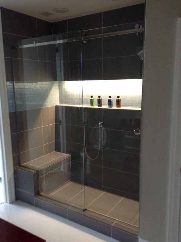 downtown raleigh condominium bathroom remodel dornbracht shower fixtures