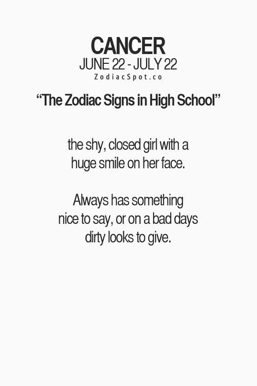 Zodiac signs in high school