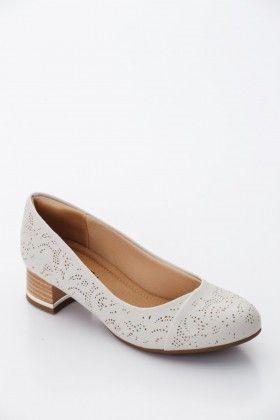 Törtfehér Piccadilly comfort Női Magassarkú cipő