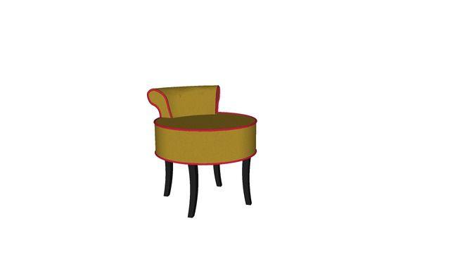 KARE 77515 Stool Backrest Velvet Pop (Hocker Backrest Velvet Pop) - 3D Warehouse