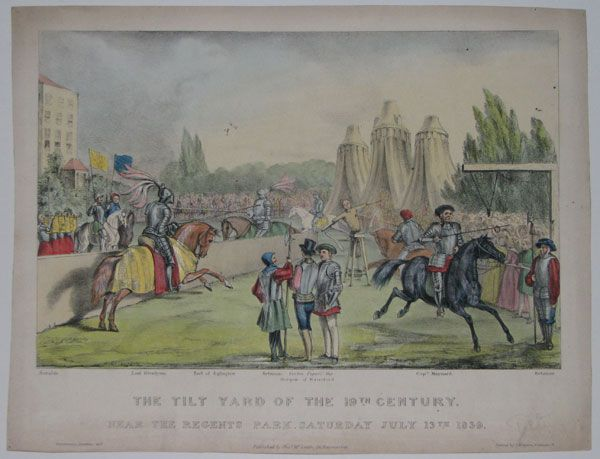The Tilt Yard of the 19.th Century. Near the Regents Park. Saturday July 13.th 1839.