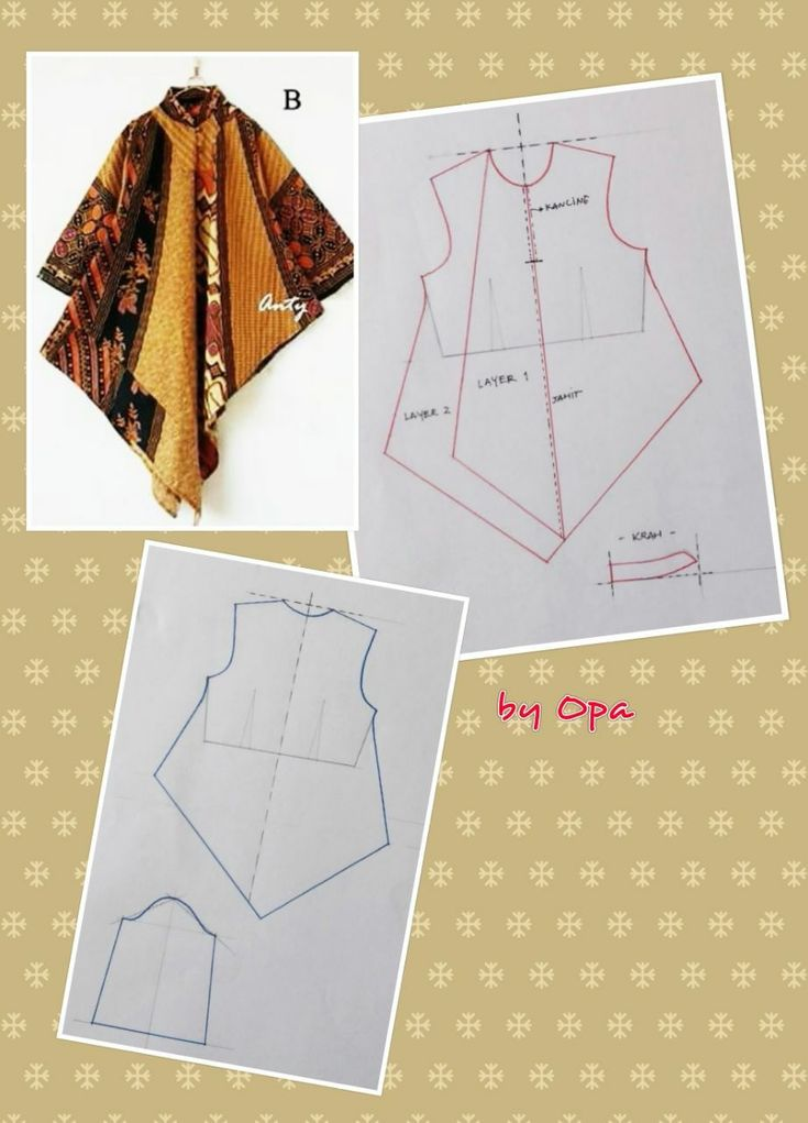 Long top Batik Sewing pattern