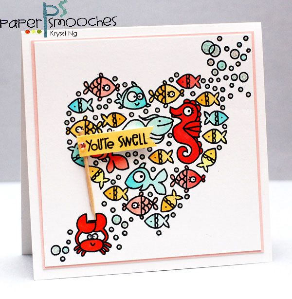 You're Swell card by Kryssi Ng for Paper Smooches - Surf & Turf