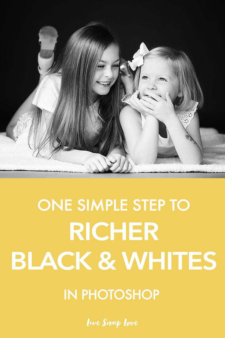 Photoshop Tutorial For Beginners | This simple trick for converting images to black and white in photoshop will give you a much richer and more dramatic black and white in just one step! Click through to read how to do it.
