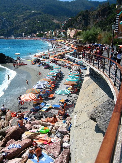 The Cinque Terre, ITALY: Monterosso al Mare (Town #5) This is a resort with cars and hotels, and also the only sandy beach.