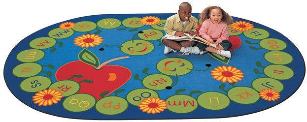 ABC Caterpillar Oval Classroom Rug 8'3 x 11'8