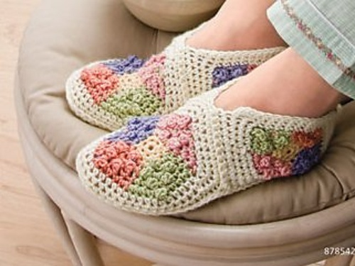 Ravelry: My Granny Patch Slippers
