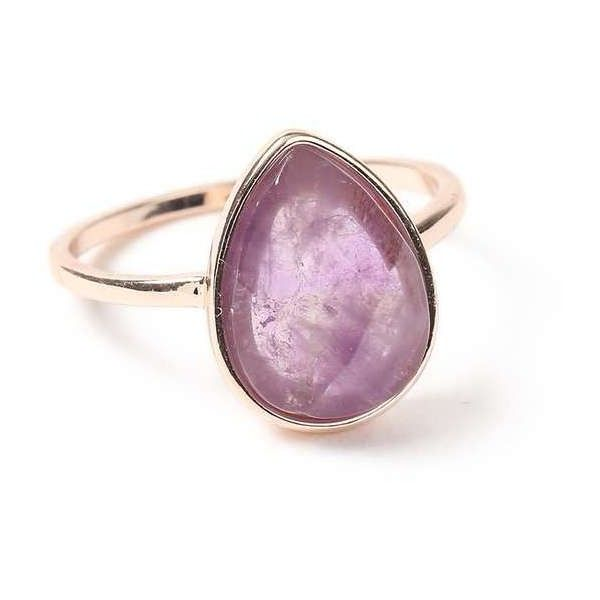 Miss Selfridge Semi Precious Cocktail Ring (€10) ❤ liked on Polyvore featuring jewelry, rings, purple, statement rings, semiprecious stone jewelry, semi precious jewelry, cocktail rings and semi precious stone jewellery