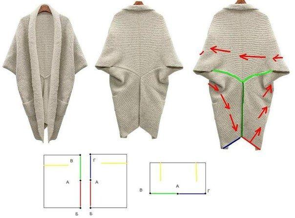 Easy to sew three piece cardigan