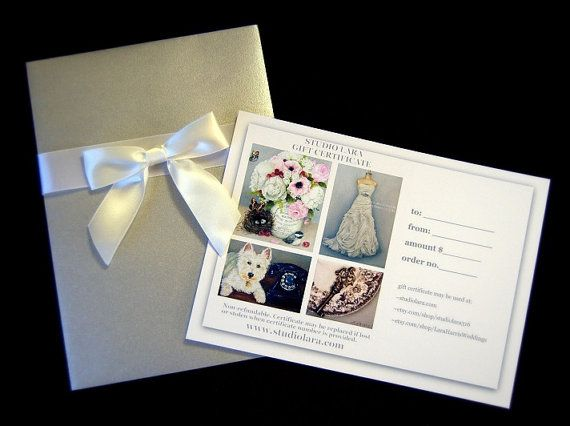 GIFT CERTIFICATE 100 USD Custom Wedding by LaraHarrisWeddings, $100.00