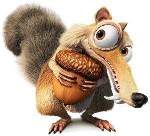 Image result for ICE AGE SQUIRREL AND NUT