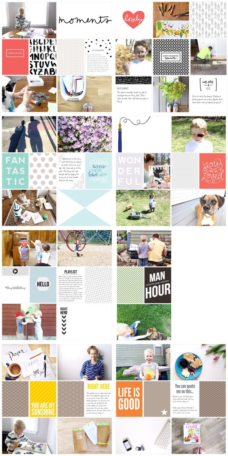 Scrapbook ideas about life - Project Life 2015
