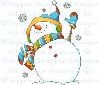 Joyful Snowman - Snowmen Images - Snowmen - Rubber Stamps - Shop