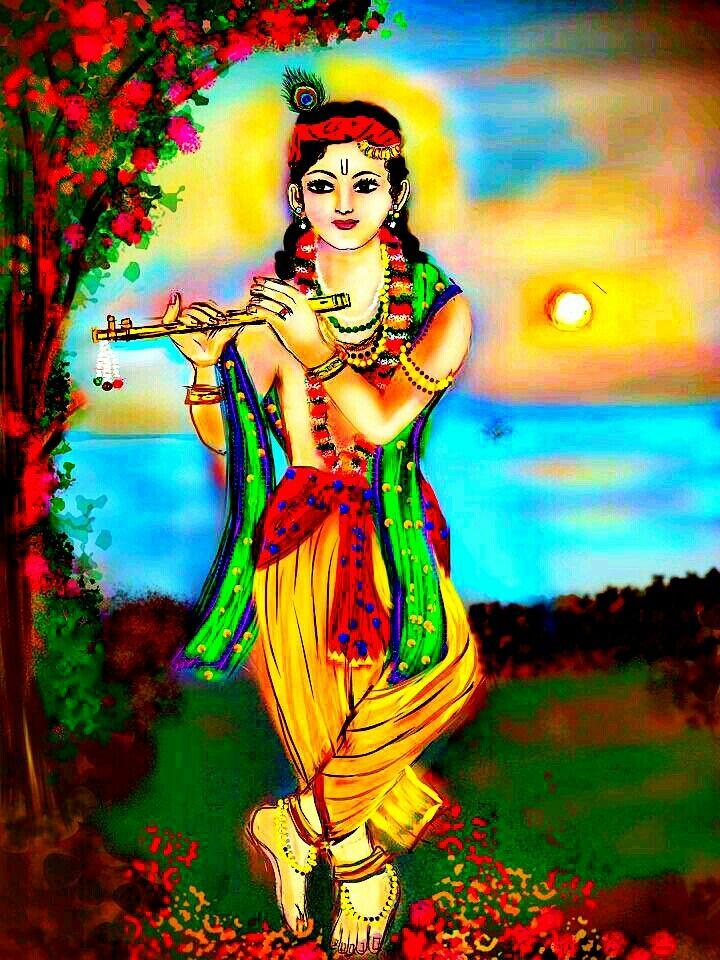 Jai Shri Krishna..when our prayers emanate from a pure heart and tranquil mind, it echoes higher realms of energy from our surroundings and reverberates back among us♥   #eternallove #LordKrishna #haribol #Krishna #Kanhaiya #kahna #art #beautiful #lovethis #stunning #instalike #instadaily #instagood #instamood #instacool #instalove #fab #bansuri #flute #peacock #Hinduism #spiritual #spirituality #Indian #Hindu #desi #painting