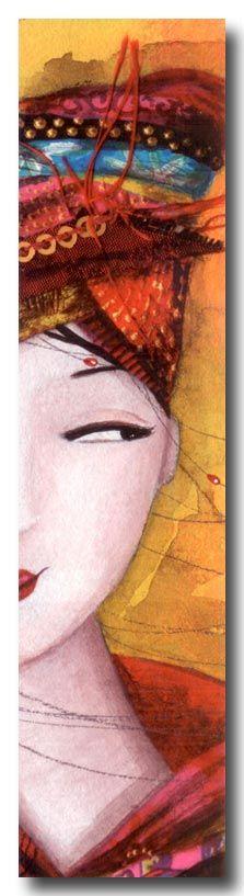 MARQUE-PAGES > MARQUE-PAGES REBEYRE > REBEYRE Marque-page Visage Jaune - e-mages - La carterie d art