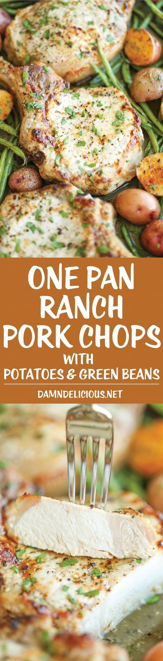 One Pan Ranch Pork Chops And Veggies Ranch Pork Chopsoven