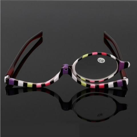 68ec918e52e Readers Magnifying Makeup Glasses Eye Make Up Spectacles Flip Down Lens  Folding Cosmetic Womens Reading Glasses