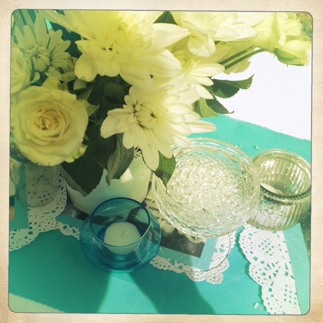 Breakfast @ Tiffany's Themed Hen's Party - Audrey Prints/Quotes - Table Decorations - Crystal - Diamonds - Floral Arrangements